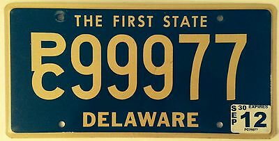 Delaware Triple digit 9 license plate 999 repeating number First State PC 77