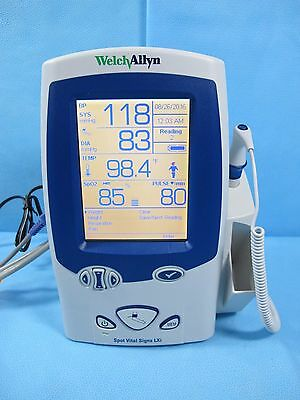 Welch Allyn Spot Vital Signs LXi Monitor 45NT0 Nellcor SpO2, Temp, NIBP Warranty