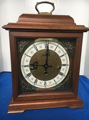 Hamilton 340-020 two 2 Jewels Mantle Chime Clock Germany Parts Repair As-Is Nice
