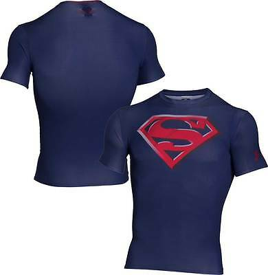 Under Armour Mens Heatgear Alter Ego Compression Tee MAN OF STEEL
