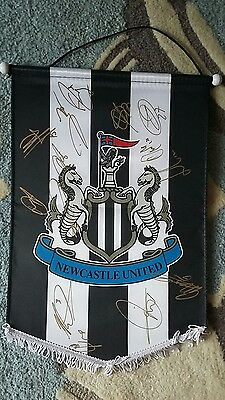 Newcastle united signed pennant championship winning pennant signed at ipswich