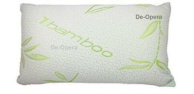 Luxury Bamboo Memory Foam Pillow Firm Head Neck Support Orthopedic BN