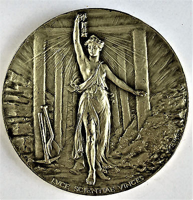 XL SILVER MEDALLION by WYON. INSTITUTION OF MINING ENGINEERS.  ATTRIBUTED