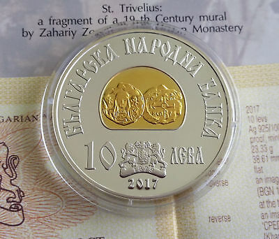 BULGARIA 10 levs 2017  King Khan Tervel, Bulgarian ruler, Silver Mint + COA