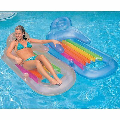 floating lounge inflatable swimming pool chair float lounger raft