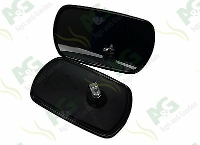 """Universal Mirror Head To Suit Tractor Truck Digger 10"""" x 6"""" 2 Pcs"""
