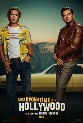 "Once Upon a Time in Hollywood Tarantino DiCaprio Brad Pitt Movie Poster 27""×40"""