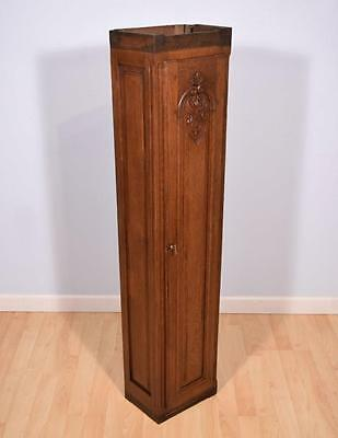 Antique French Provincial Solid Oak Wall Cabinet/Case