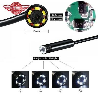 Snake Camera with USB Adpater 6 Adjustable LED Light Android/Windows 3.5 MM New