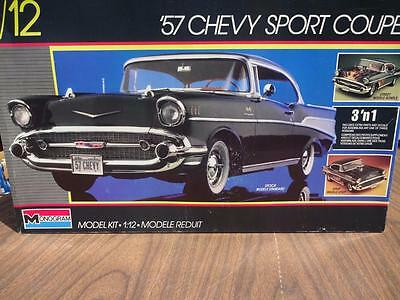 Monogram 57 Chevy Sport Coupe  Model Car Kit Huge 1/12 Scale. Free Shipping!