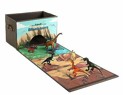 Dinosaur Toys Dinosaurs Chest Storage Box Playset, Children Play Mat with 7 for