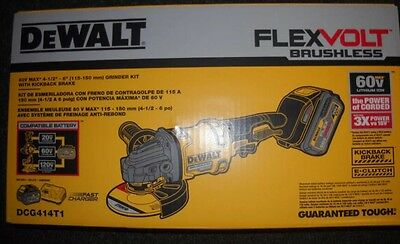 "DeWalt DCG414T1 60V Max 4 1/2 - 6"" Grinder Kit with Kickback Brake - BRAND NEW!"