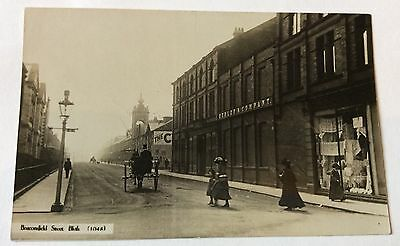 Fine Early Real Photo Postcard Beaconsfield Street Blyth