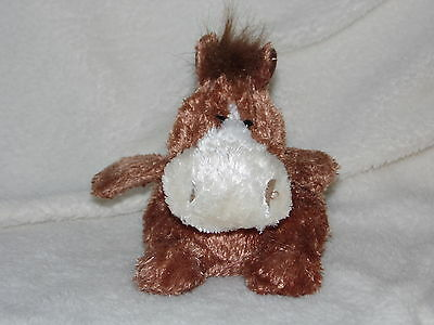Russ Berrie Luvvies Wendy Horse Soft Toy Brown Beanie Comforter