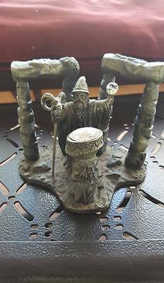 SUMMONING THE ELEMENTS ,Pewter figure SIGNED BY Roger Gibbons , ED