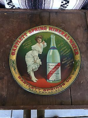 RARE 1910 Bartlett Spring Mineral Water Serving Tray Lithograph Advertising