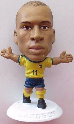 Henrik Larsson 2002 Sweden Football Corinthian Figure White Base MC982, Celtic