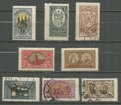Central Lithuania 1921  mint / used stamps set