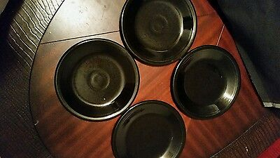 Black Fiestaware Dessert Plates Set Of 4