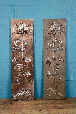 Arts and Crafts copper panels for fire surround (100435)
