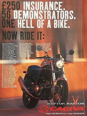 Cagiva V Raptor - Original A4 Colour Motorcycle Advert