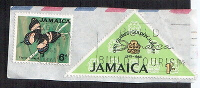 Postage Stamps Jamaica : Girls Guide Golden Jubilee 1915 1965 : Papila Homerus