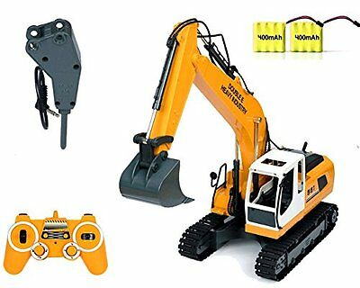 RC Excavator Tractor Toy Construction Vehicles 17 Channel Truck Metal Shovel kid