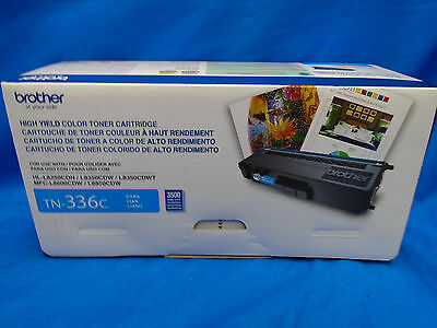 Brand New Genuine Factory Sealed Brother Tn-336C Cyan High Yield Toner Cartridge
