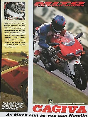 Cagiva Mito 125 - Original A4 Colour Motorcycle Advert