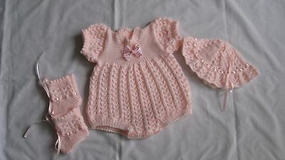 Hand Knitted Romper St For Reborn Baby Girl.