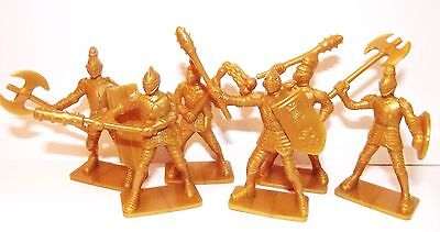 Plastic toy soldiers. European 'Golden' Knights 54mm. Set 2. 1/32 scale