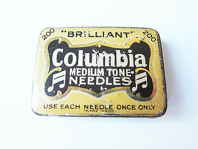 Grammophon NADELDOSE COLUMBIA MEDIUM TONE - gramophone needle tin
