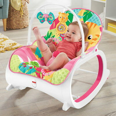 Fisher-Price Babyschaukel FMN41 Vibration 3in1 Funktion Lehne einstellbar rosa