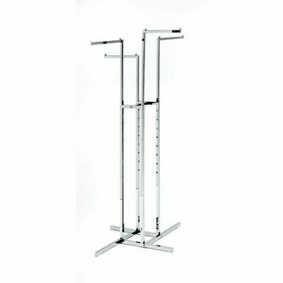 Chrome 4 Way Clothing Rack 4 Straight Arms , 32257