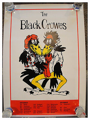 The Black Crowes EUROPEAN Poster  ROBINSON, FORD,  Magpie Salute Rare