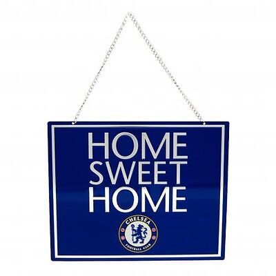 Official Licensed Football Product Chelsea Home Sweet Home Sign Fan Crest Gift
