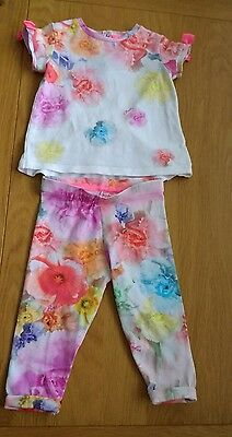 baby girls ted baker floral outfit, age 6-9 months