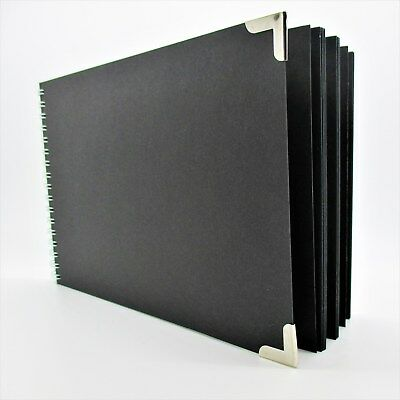 A4 LARGE 28 SHEET 56 SIDE PREMIUM THICK BLACK CARD wedding photo album guestbook