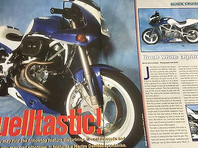 Buell White Lightning - Original 3 Page Colour Motorcycle Article