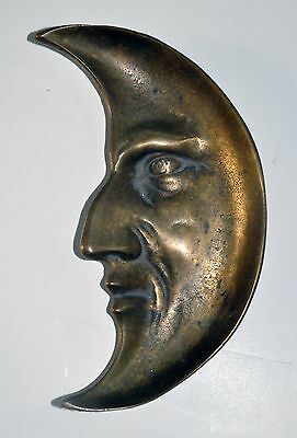 Bronze ash tray of the Man in the Moon image
