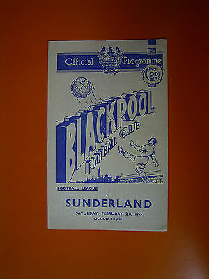 League Division One - Blackpool v Sunderland - 5th February 1955