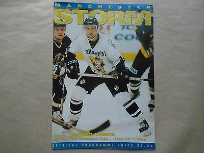 MANCHESTER STORM v Telford Tigers - 12 Nov1995 ICE HOCKEY Lge program