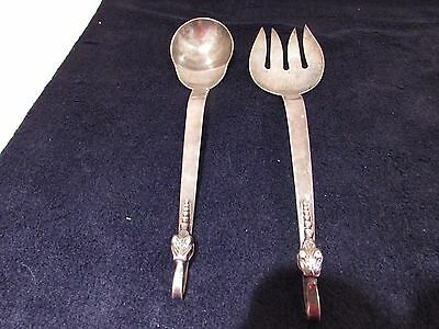 "Stamped ""Lopez"" Sterling Silver Salad Set"