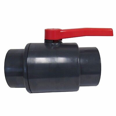New Sch 80 Pvc 6 Inch Compact Ball Valve Grey Socket Connection New Sch 80 Pvc