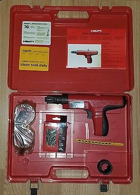 HILTI DX35 Powder Actuated Nail Gun with Case  & extras