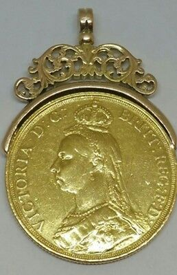 RARE 1887 JUBILEE QUEEN VICTORIA GOLD FIVE POUNDS £5 COIN Bargain Look 22ct gold