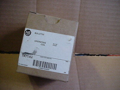 NEW IN BOX Allen Bradley TA714M 24vdc contactor starter operating coil