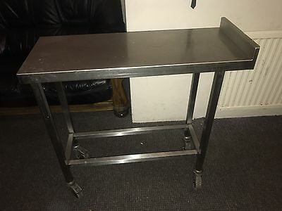 Commercial Kitchen Stainless Steel Catering Slip Table Solid & Strong On Wheels