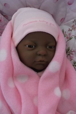 """16"""" Black Baby Doll for Play or Reborn"""