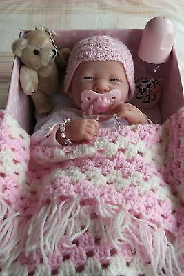 """14"""" Berenguer Baby Doll with Layette Bed Box for Play or Reborn"""